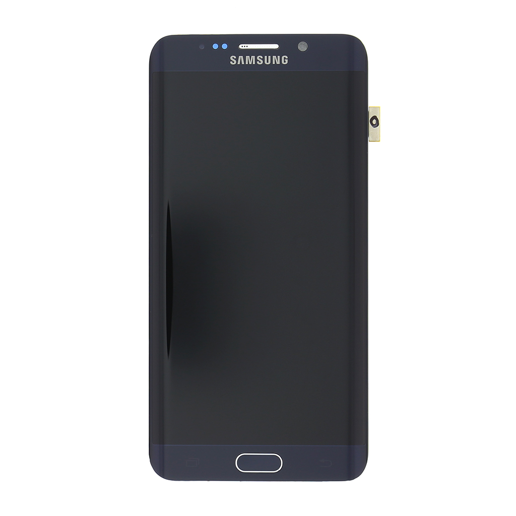 LCD display + Dotyková deska + Přední kryt Samsung G928 Galaxy S6 Edge Plus černý