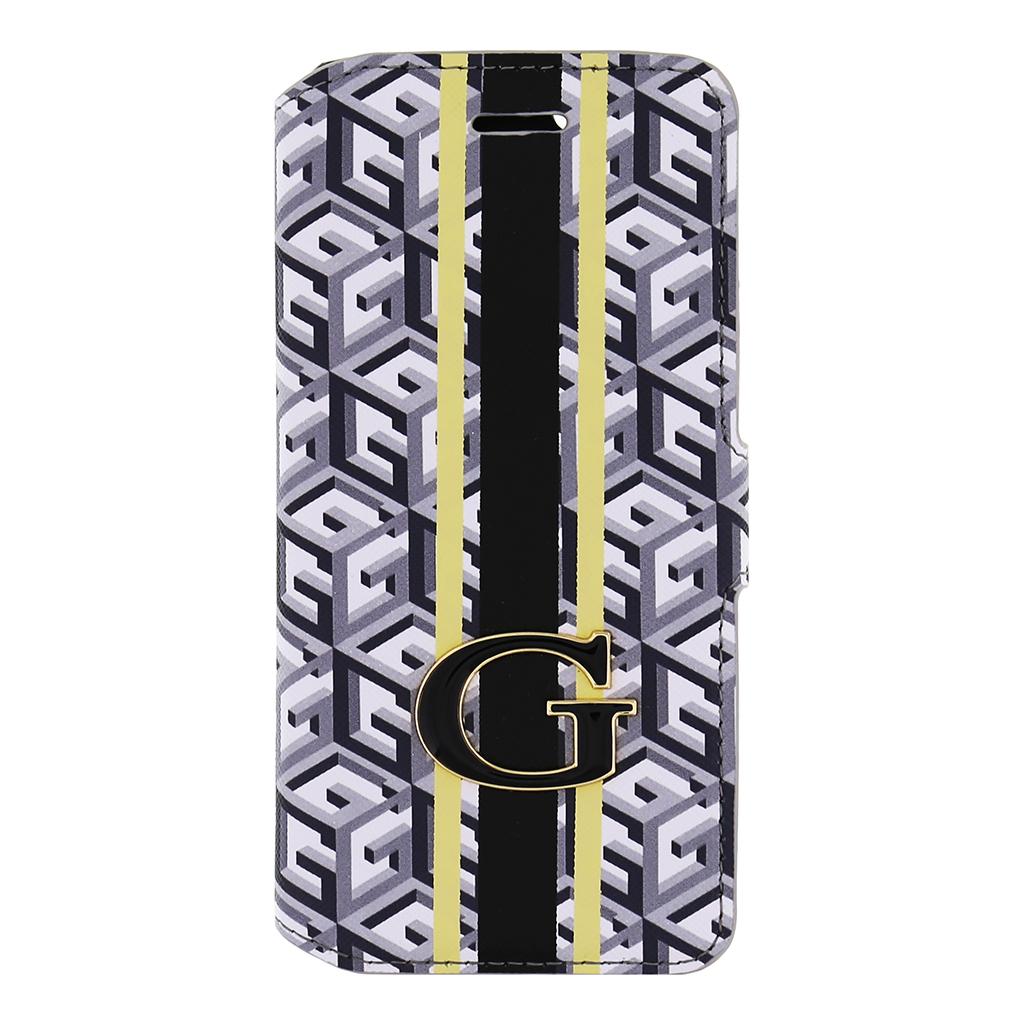 Pouzdro na mobil Samsung Galaxy S6 Edge Guess G-Cube GUFLBKS6EGCUBK černé