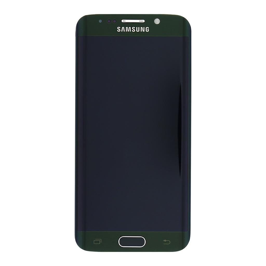 LCD display + Dotyková deska + Přední kryt Samsung G925 Galaxy S6 Edge zelený