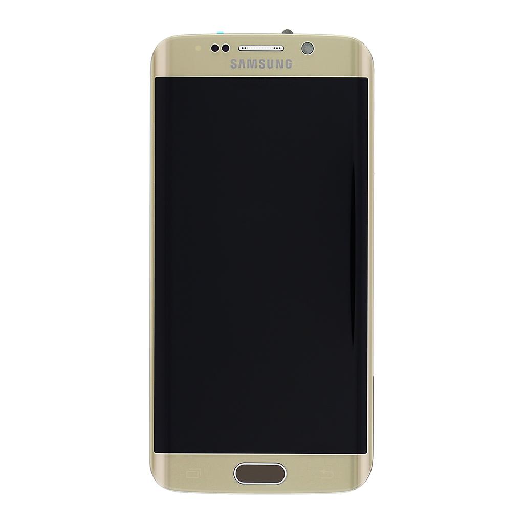 LCD + dotyková deska + přední kryt Samsung Galaxy S6 Edge gold