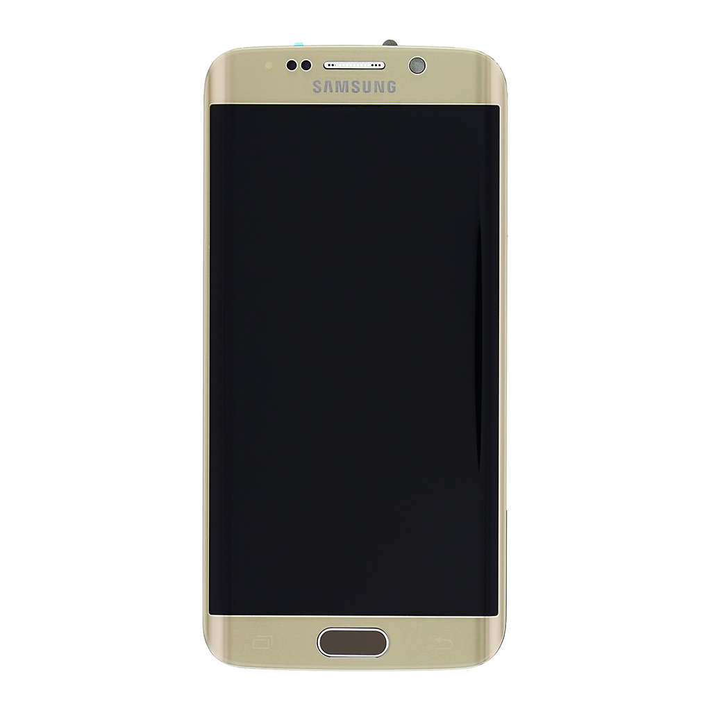 LCD display +Dotyková deska + Přední kryt Samsung G925 Galaxy S6 Edge zlatý