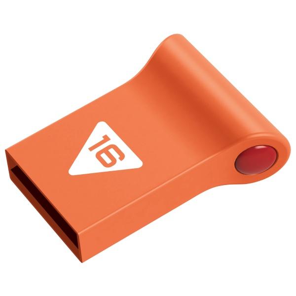 USB flash disk Nano Pop D100 EMTEC USB2.0 16GB, oranžový