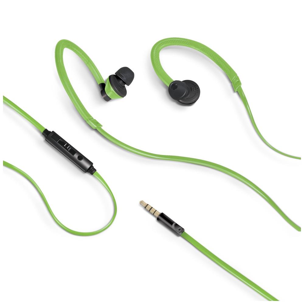 Sportovní sluchátka CELLY s mikrofonem 3,5mm jack zelené
