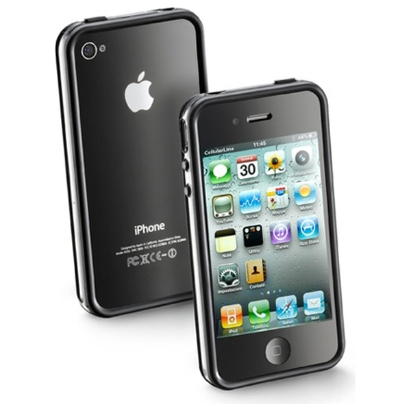 Ochranný rámeček CellularLine Bumper na Apple iPhone 4 černý