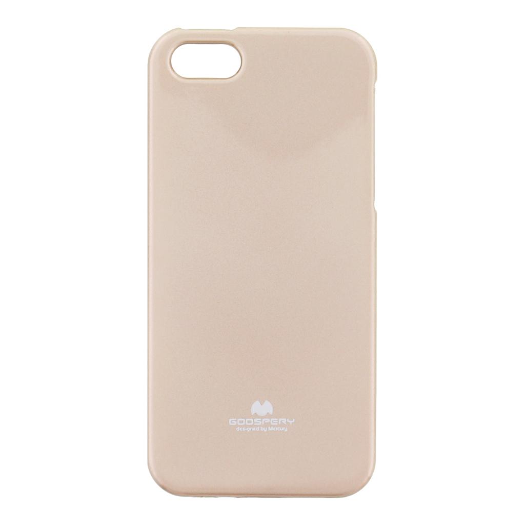 Pouzdro silikonové Mercury Jelly Apple iPhone 5/5S zlaté