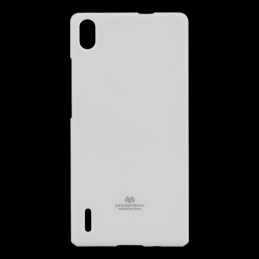 Pouzdro silikonové Mercury Jelly na Huawei Ascend P7 bílé