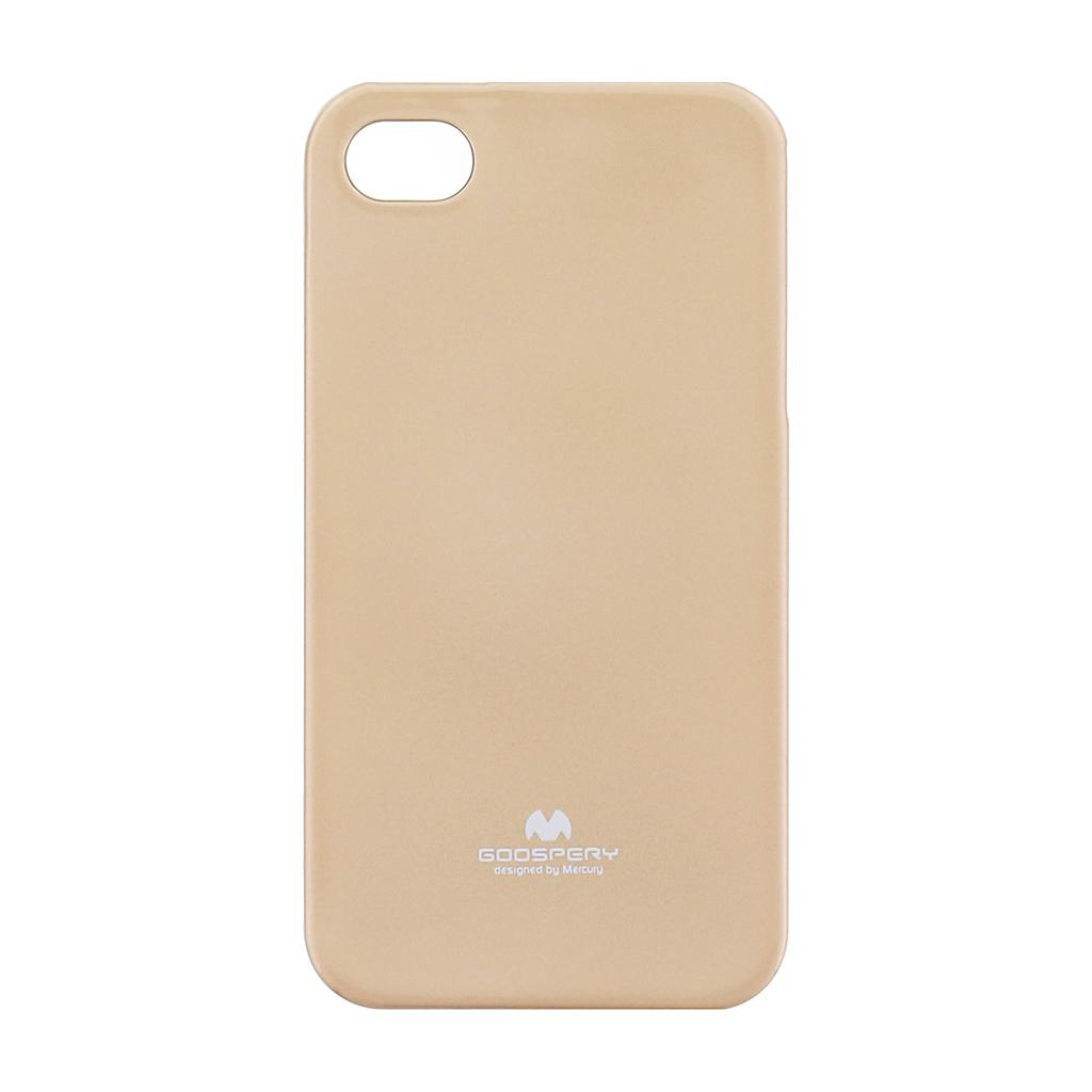 Pouzdro silikonové Mercury Jelly na Apple iPhone 4/4S zlaté