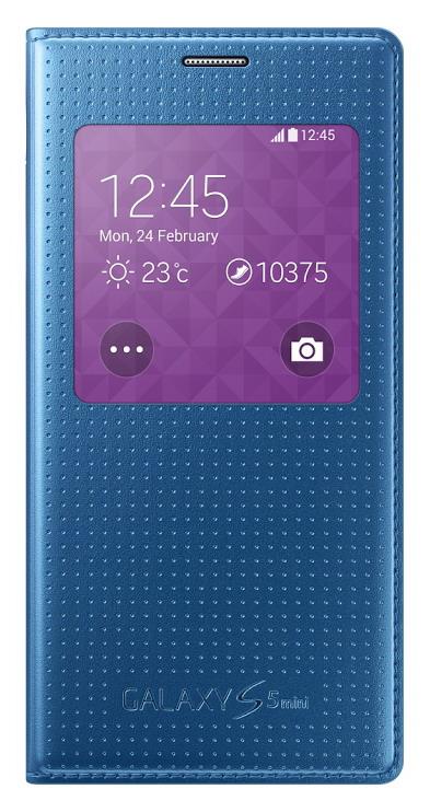 Pouzdro na mobil Samsung Galaxy S5mini EF-CG800BE S-view modré
