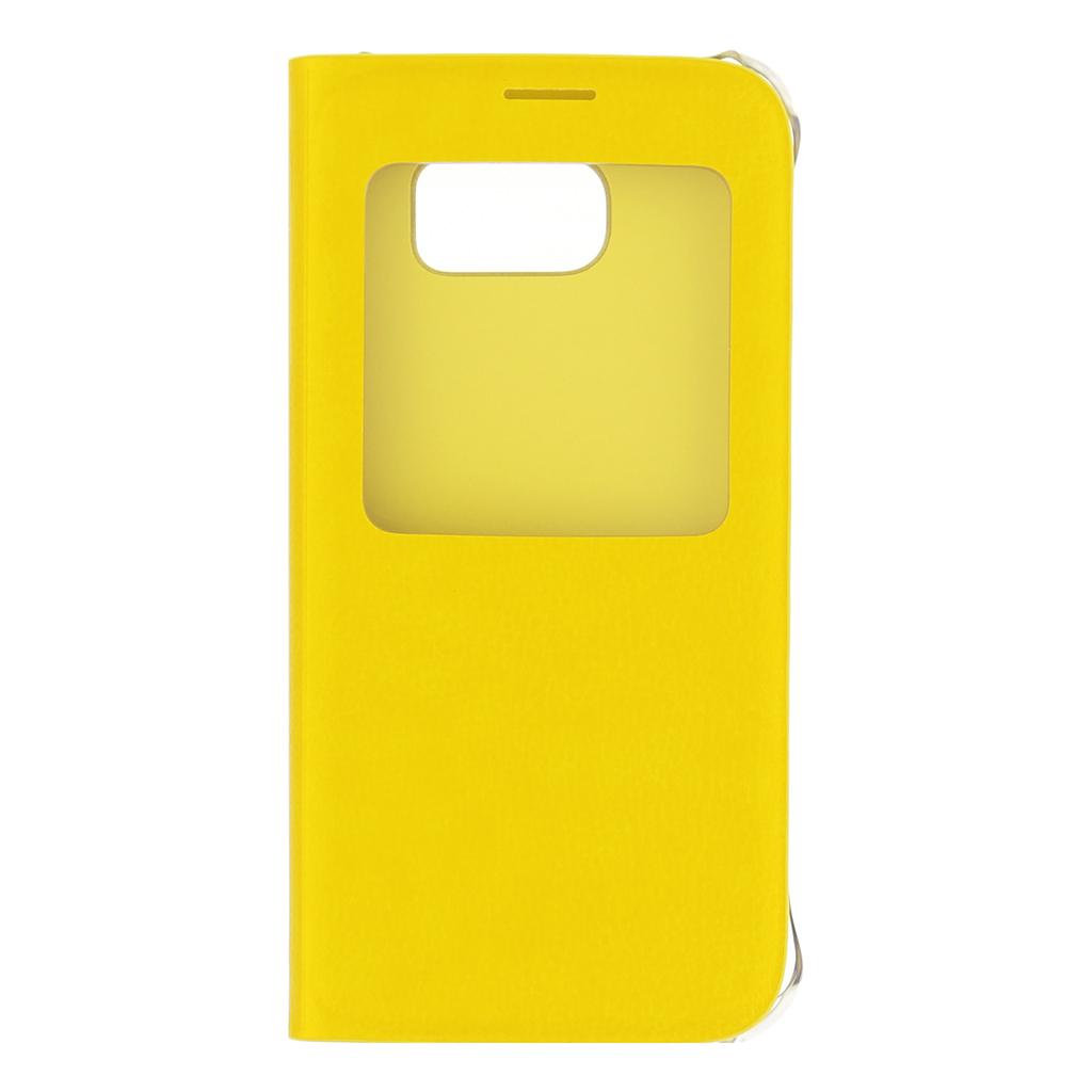 Pouzdro na Samsung Galaxy S6 EF-CG920PYE S-view žluté
