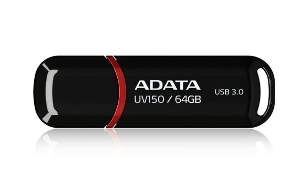 Flash disk ADATA UV150 64GB, USB 3.0, černý