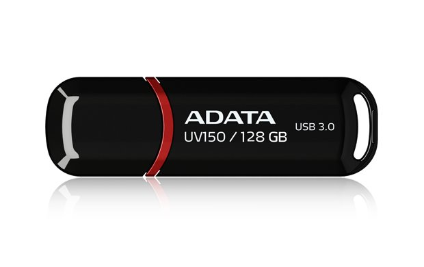 Flash disk ADATA UV150 128GB, USB 3.0, černý
