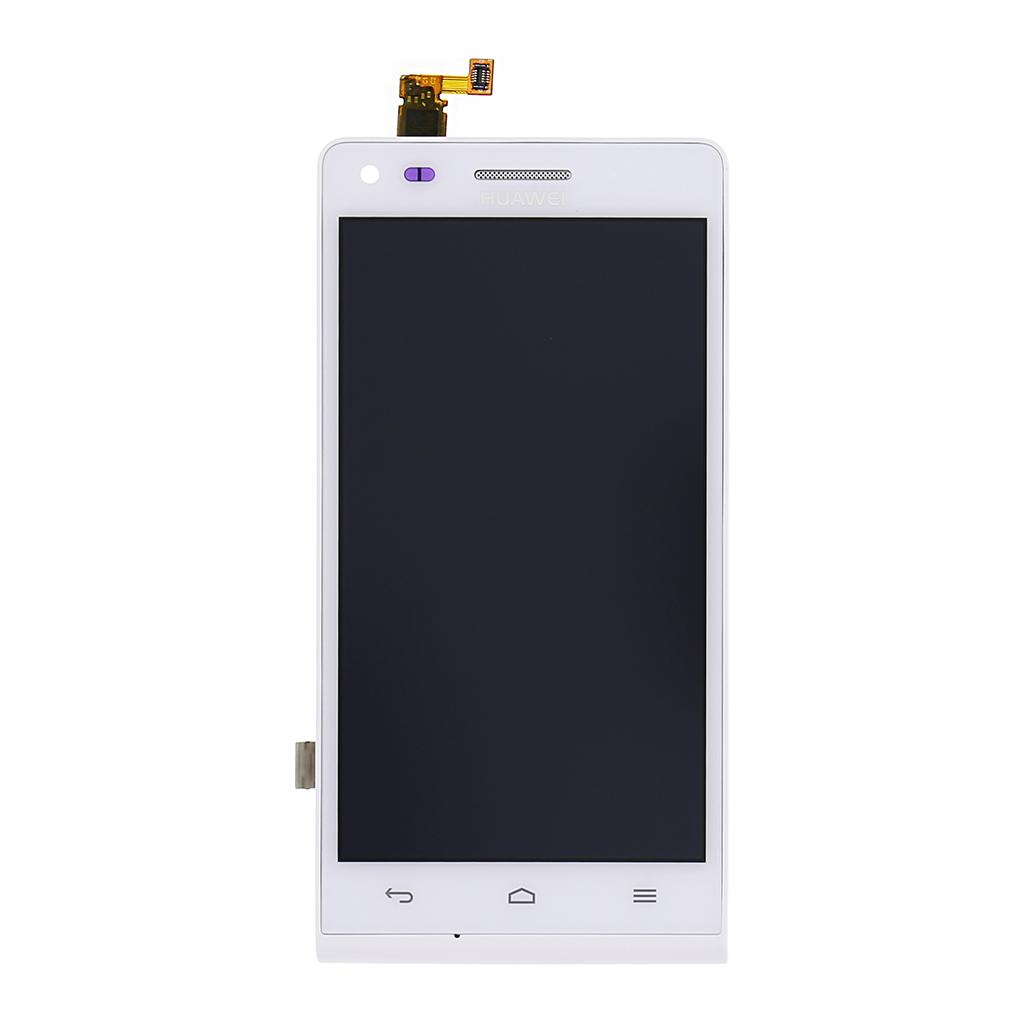 LCD Display + dotyk. deska + přední kryt pro Huawei Ascend G6, bílý