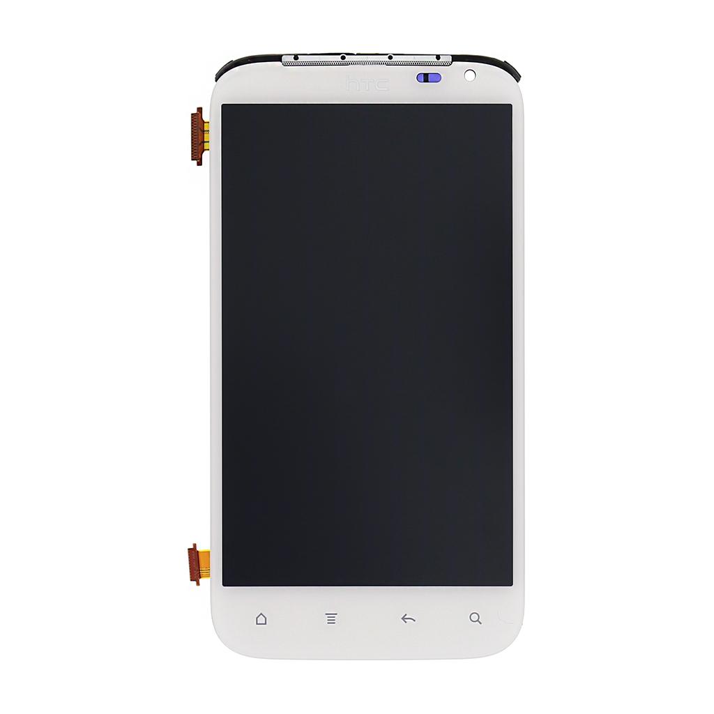 LCD Display + dotyk. deska + přední kryt pro HTC Sensation XL, bílý