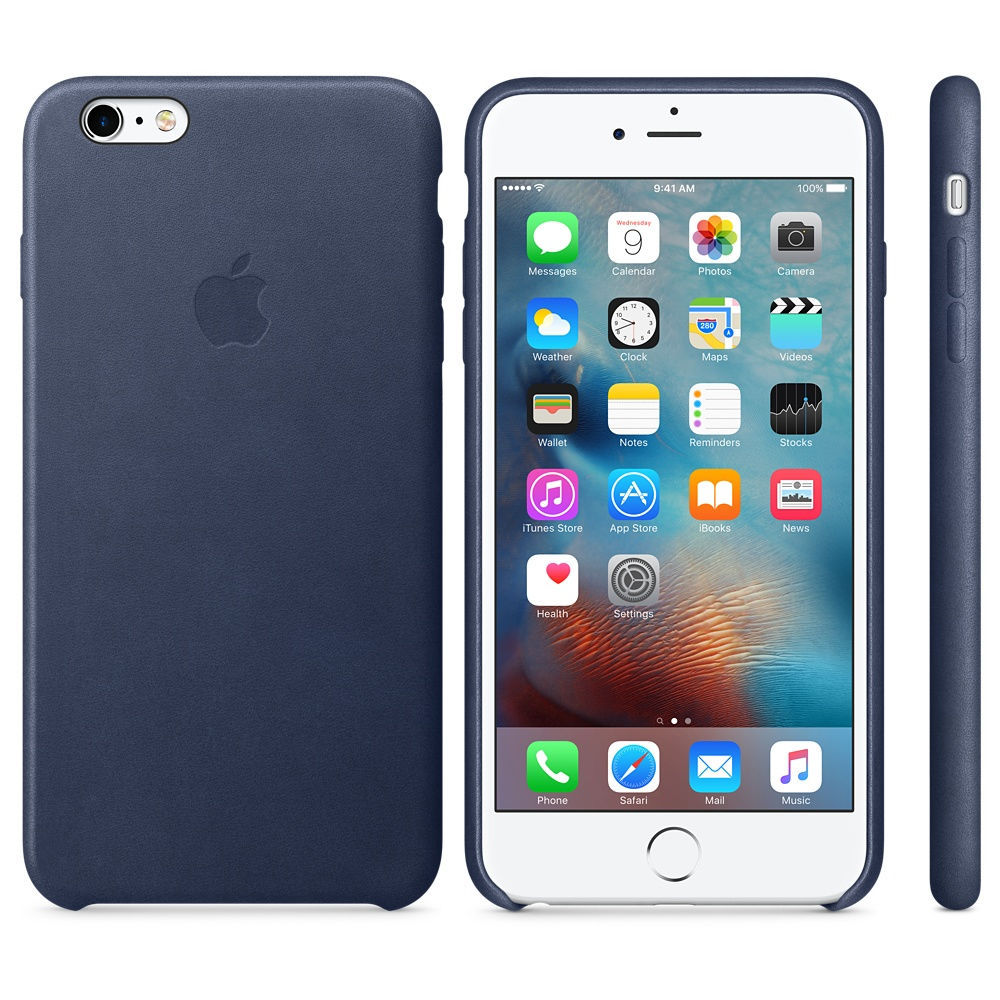 Zadní kryt Apple iPhone 6s Plus Leather Case Midnight Blue