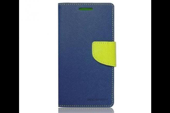 Pouzdro Fancy Diary Folio pro Lenovo A2010 modré/limetkové