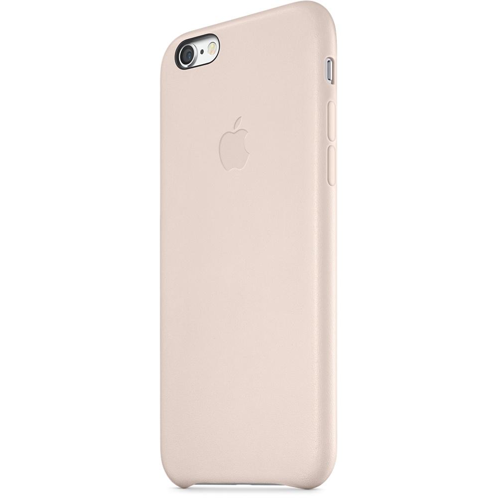 Zadní kryt na Apple iPhone 6 Plus Leather Case světle růžový