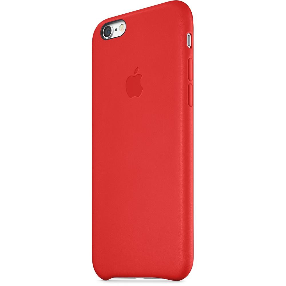 Zadní kryt na Apple iPhone 6 Plus Leather Case červený - Zadní ... 5f4dcaeafef