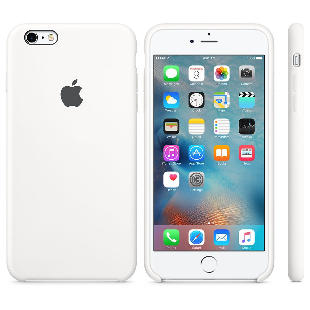 Apple iPhone 6S Plus Silicone Case White, MKXK2ZM/A