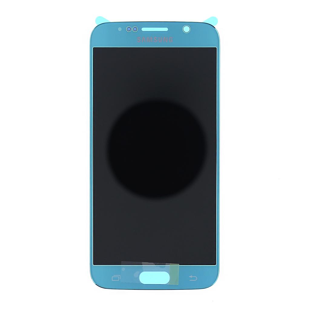 LCD display + dotyk. deska pro Samsung Galaxy S6 G920, modrá