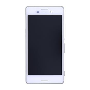 LCD Display + dotyková deska + přední kryt White pro Sony Xperia M2 Aqua - originál