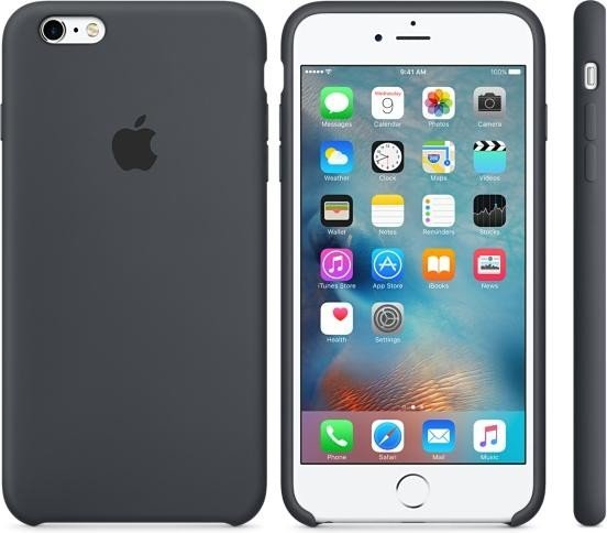 Silikonové pouzdro Apple iPhone 6s Plus Charcoal Gray