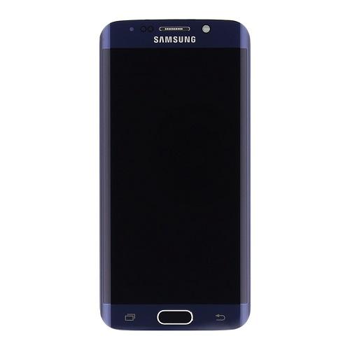 LCD display + dotyk. deska + př. kryt pro Samsung Galaxy S6 Edge G925, černá