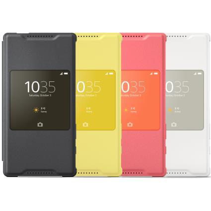 Pouzdro flip SCR44 Smart Cover Sony Xperia Z5 Compact žluté