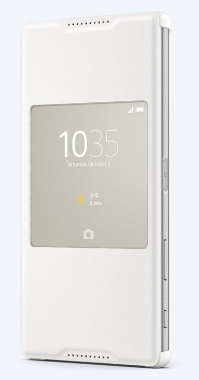Pouzdro flip SCR46 Smart Cover Sony Xperia Z5 Premium bílé