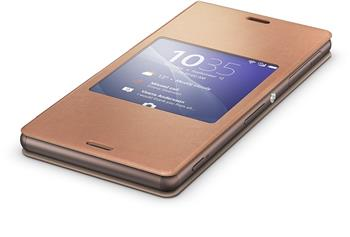 Pouzdro flip SCR24 Smart Cover Sony Xperia Z3 Copper