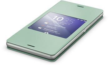 Pouzdro flip SCR24 Smart Cover Sony Xperia Z3 zelené