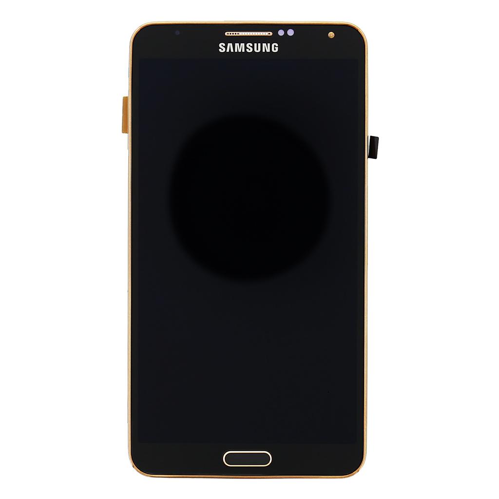 LCD display + Dotyk + Přední kryt Samsung N9005 Galaxy Note3 Black Gold