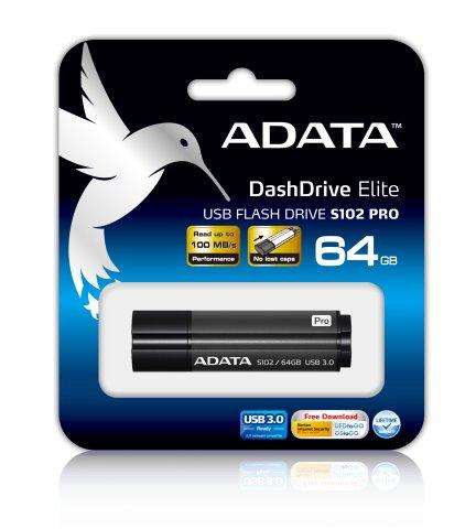 Flash disk ADATA S102 Pro 64GB, USB 3.0, šedý