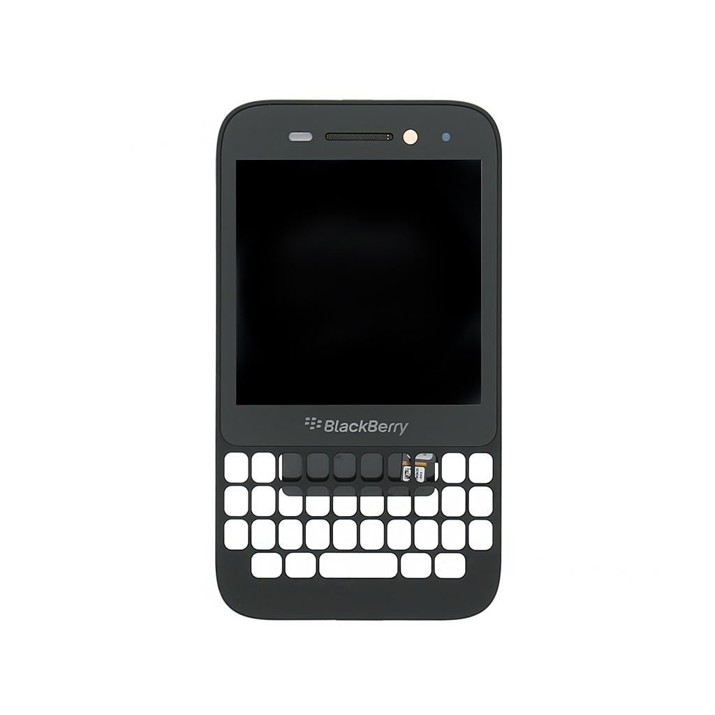 LCD + dotyk. deska + př. kryt pro BlackBerry Q5, černá