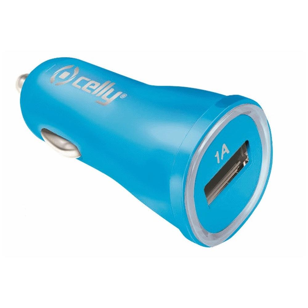 CL autonabíječka CELLY s USB výstupem 1A modrá (blister)