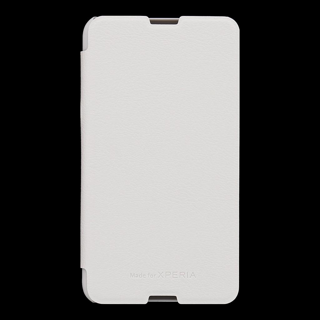 Original flip SMA5153W Sony Xperia E4g bílé