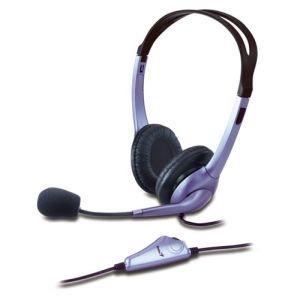 Sluchátka s mikrofonem Genius HS-04S fialové