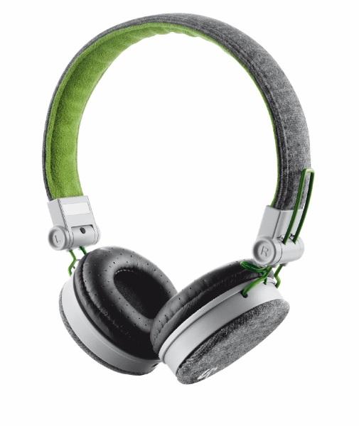 Stylová sluchátka TRUST Urban Fyber šedo-zelené