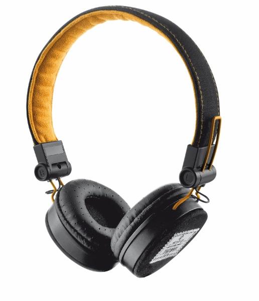 Stylová sluchátka TRUST Urban Fyber černo-oranžové