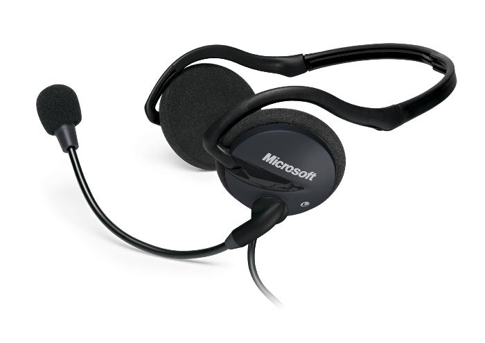 Stylová sluchátka Microsoft LifeChat LX-2000 černé