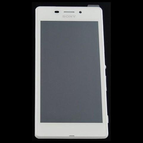 LCD Display + dotyková deska + přední kryt Silver pro Sony Xperia M4 E2303 Aqua - originál