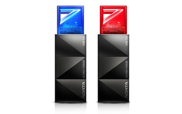 Flash disk ADATA USB 3.0 UC340 64GB červený
