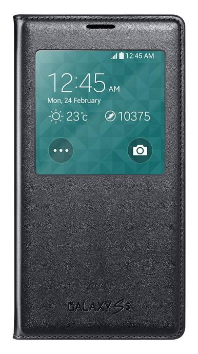Originální pouzdro na Samsung Galaxy S5 S-View EF-CG900B černé