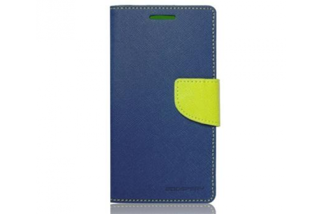 Pouzdro Fancy Diary Folio pro Lenovo A5000, modré/limetkové
