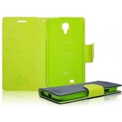 Pouzdro Fancy Diary Folio pro Sony Xperia E5823 Z5 Compact, modré/limetkové