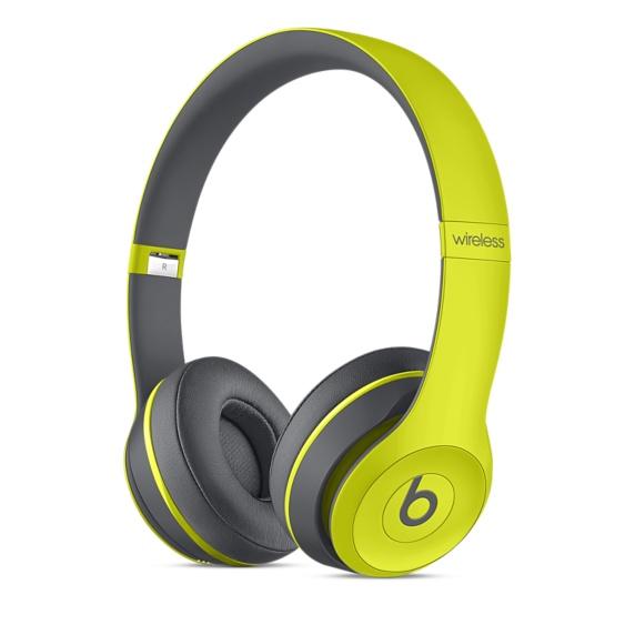 Bezdrátová sluchátka Apple Beats Solo2 Wireless Headphone žluté
