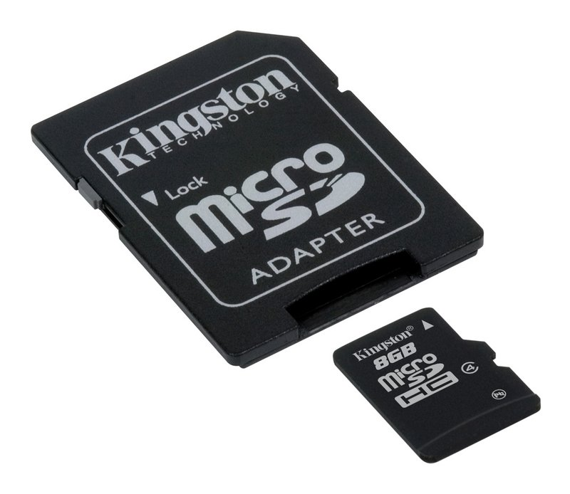 Paměťová karta KINGSTON 8GB Micro SD, Class 4 s adaptérem