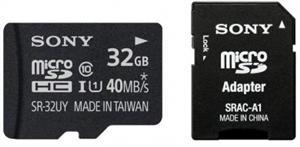 Paměťová karta SONY 32GB Micro SD class10, 40MB/s, s adaptérem