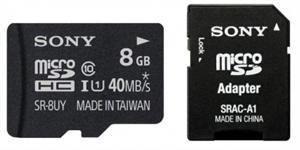 Paměťová karta SONY 8GB Micro SD class10, 40MB/s s adapterem