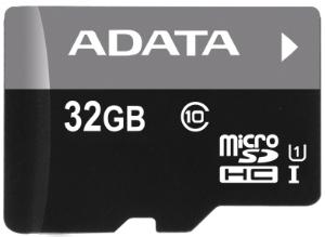 Paměťová karta ADATA 32GB Micro SDHC class10, 50MB/s s adaptérem