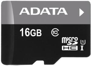 Paměťová karta ADATA 16GB Micro SDHC Class 10, 50MB/s (bez adaptéru)